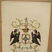 Rare Jacobs 1766 Coat of Arms Villiers Lord Hyde