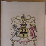 Jacobs ENG Peerage Rare Coat Of Arms How Lord Chedworth