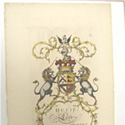 Jacobs ENG Peerage Rare Coat Of Arms Ducie MORTON 1700s