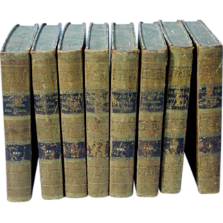 Rare 8 Vols 1795 Raynal Antique Books SIGNED Autographed
