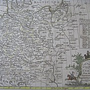 Thomas Bowen Copperplate Engraving Map Germany 1778