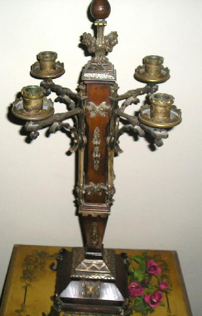 19c FRENCH VICTORIAN LAMP/Candelabra Handcrafted Bolted Bottom ca.19th century