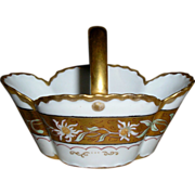 HAVILAND LIMOGES Basket~ Hand Painted & Gold ~  ca. 1894 ~