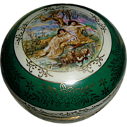 Signed ca 1899~ European Portrait Austrian/German Powder Box ~ Hand Painted/Mixon & Gilding ~