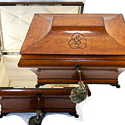 "Huge Antique 20"" 1700s French Marriage or Trousseau Chest, Casket, Cashmere Box"