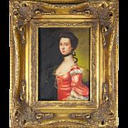 "Antique English 19th Century Miniature Painting - 11.5"" x 9.5"" Frame, Biggs & Sons, London"