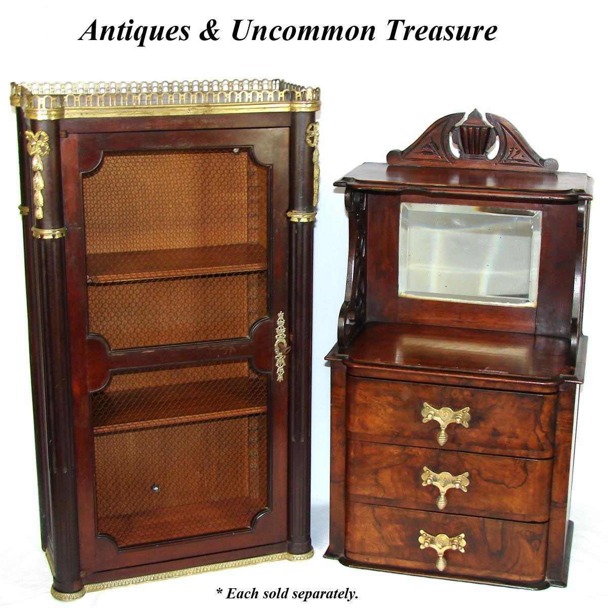 Antique Victorian Era 25 Wall Or Table Top Chest Miniature Doll Size Furniture Ebay