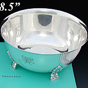"Vintage Tiffany & Co. Sterling Silver 8 3/8"" Bowl, Centerpiece, Mid Century Modern Style"