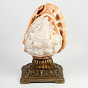 Antique Italy Grand Tour Souvenir, Hand Carved Shell on Plinth, Cameo Psyche and Cupid