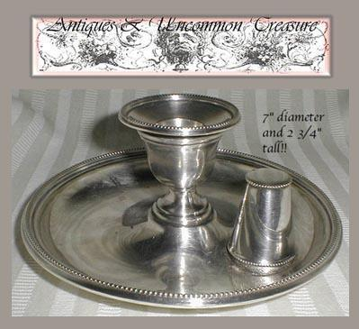 Fine 1880s Victorian Silver Plated Candle Holder, Chamberstick