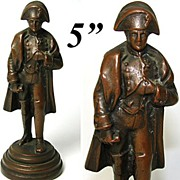 Antique French Bronze Miniature Sculpture: Napoleon Bonaparte