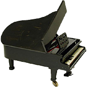 "Antique to Vintage Jewelry Casket, 10"" Miniature Grand Piano for Doll House, Bru"
