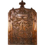 """Fabulous French Hand Carved 22"""" x 14"""" Wood Panel, Decorative Neo-Classical, Griffen Figural"""