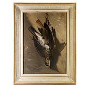 "Antique c. 1871 Signed French Oil Painting, Nature Still Life, Morte, ""Calvini GIOVANNI"