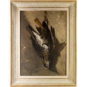 "Antique c. 1871 Signed French Oil Painting, Nature Still Life, Morte, ""Calvini GIOVANNI"