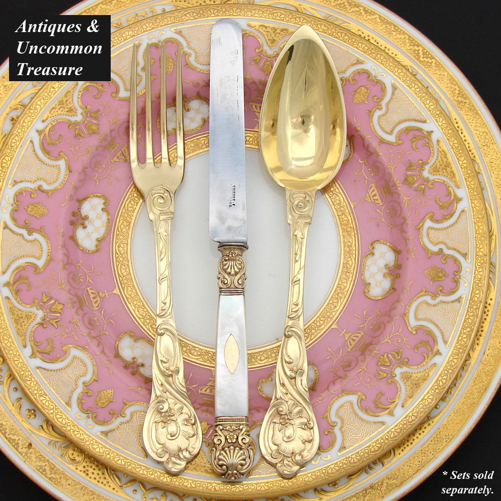 gorgeous antique french vermeil 18k gold on sterling. Black Bedroom Furniture Sets. Home Design Ideas