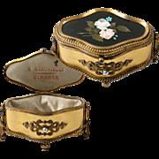 Antique Italian Grand Tour Pietra Dura Jewelry Casket, Box,  Berchielli, Firenze