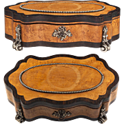 Antique 19th c. French Jewelry Box, Likely A Chocolatier's BonBon Box