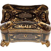 Exceptionally Fine 19th C. Jewelry or Desk Box, Chinoiserie or Japonaise