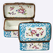 Antique Battersea Kiln-fired Enamel Snuff or Patch, Jewelry Box, Casket #2