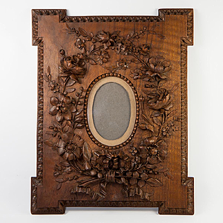 Antique Hand Carved Black Forest or French Carved Frame, Spectacular Work of Art, #1