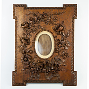 RARE Hand Carved c.1850 Carte de Visite Frame, French or Black Forest Masterpiece, #2