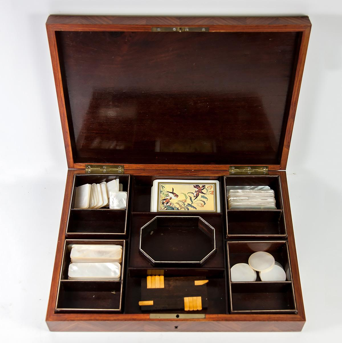 Fine Antique French Napoleon Iii Era Game Chest Box