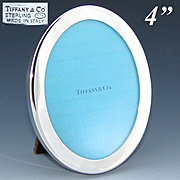 "Vintage Tiffany & Co. Sterling Silver 4"" Oval Picture Frame, Italian Made"