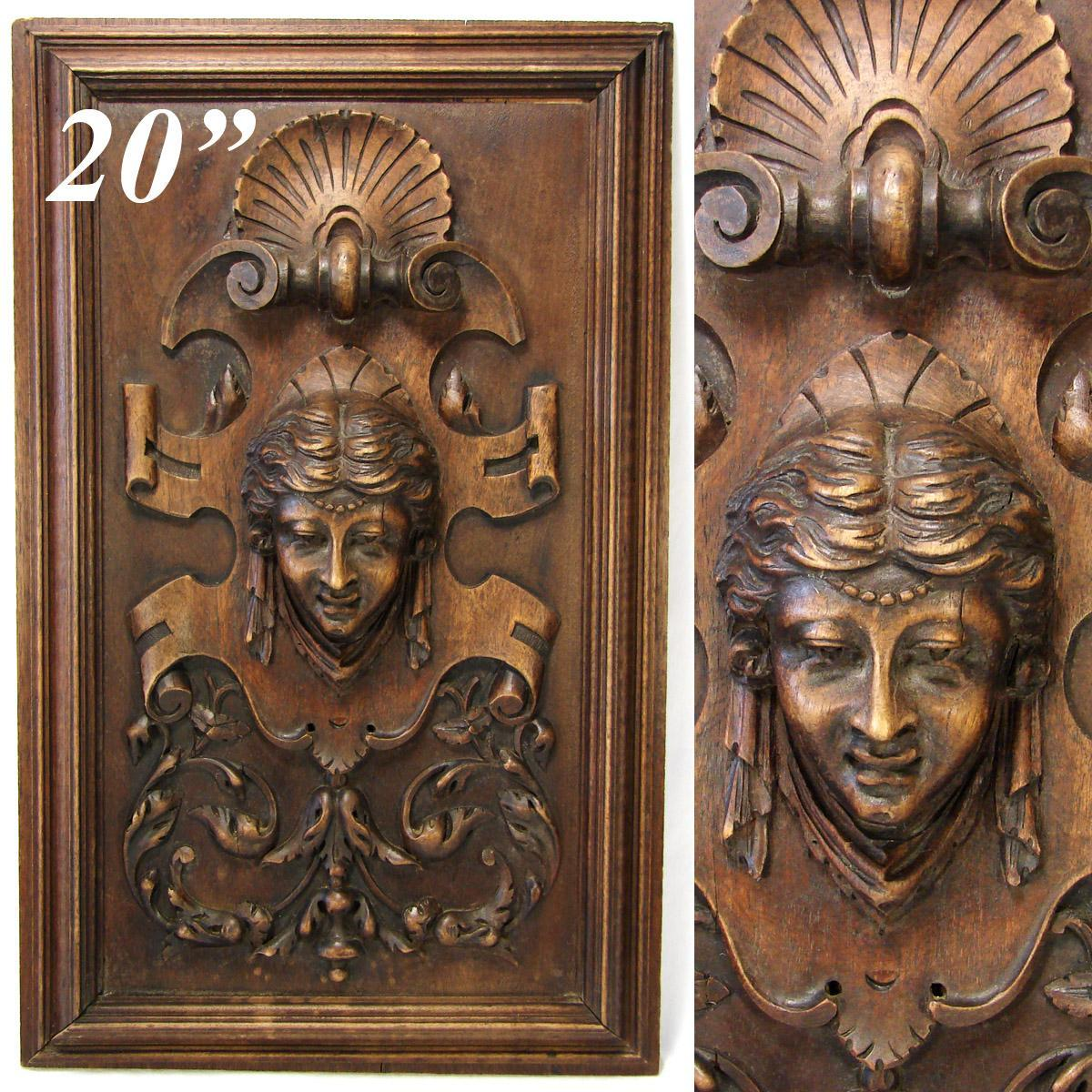 Antique Victorian Carved Wood 20 5 Quot Furniture Or Cabinet