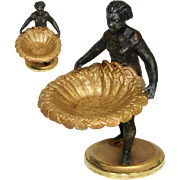 Petit Antique French Blackamoor Female Figure with Basket for Flowers, etc, Figural & c.1850-70 #2