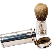 Antique English Sterling Silver & Boar Bristle Shaving Brush, c.1901 (Alfred Clark, Silversmith)