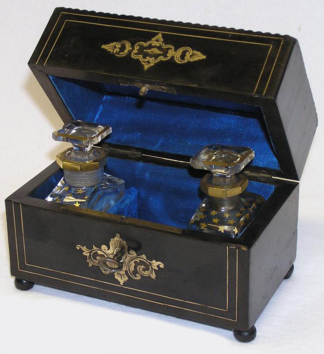 Antique French Napoleon III Double Scent Caddy, Baccarat