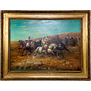 Antique Oil Painting, Orientalist Movement, Artist Signed, Fine old French Frame