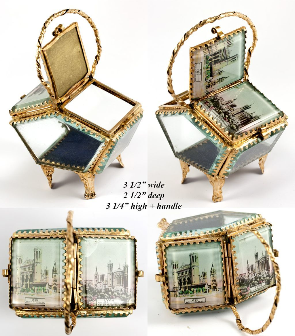 Antique french basket style eglomise souvenir jewelry box casket roll over large image to magnify click large image to zoom publicscrutiny Images
