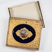 Antique French Grand Tour Eglomise Box for Chocolates, Bonbons, c.1830-60, Eglomise Painting