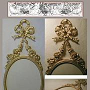 Fine Antique French Ormolu Frame, Bowtop & Garland
