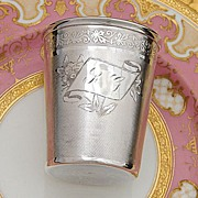 Antique French PUIFORCAT Sterling Silver Wine or Mint Julep Cup or Timbale