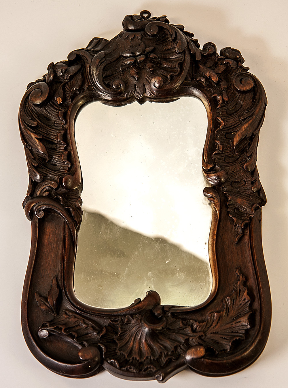 Antique Black Forest or French Hand Carved Wood Frame for Mirror or Photos