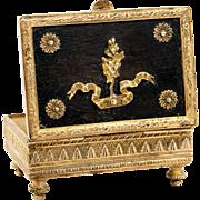 Antique French Dore Bronze 2nd Empire Stamps Box, Napoleon III Era, c.1850s
