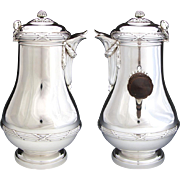 Additional images for 316boins, 3pc Antique French Sterling Silver Coffee or Tea Pot Set