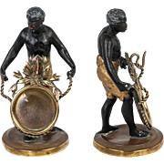 Superb Antique French Blackamoor Male Figure, Figural Pocket Watch Stand, c.1830-60