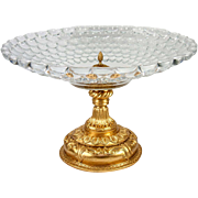 """Massive 14.5"""" Diam Antique French Table Centerpiece, Empire Revival, Finest Baccarat Crystal #2"""
