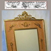 Rare 19c French Empire Dore Bronze Picture Frame - Large, with Classical Figures!