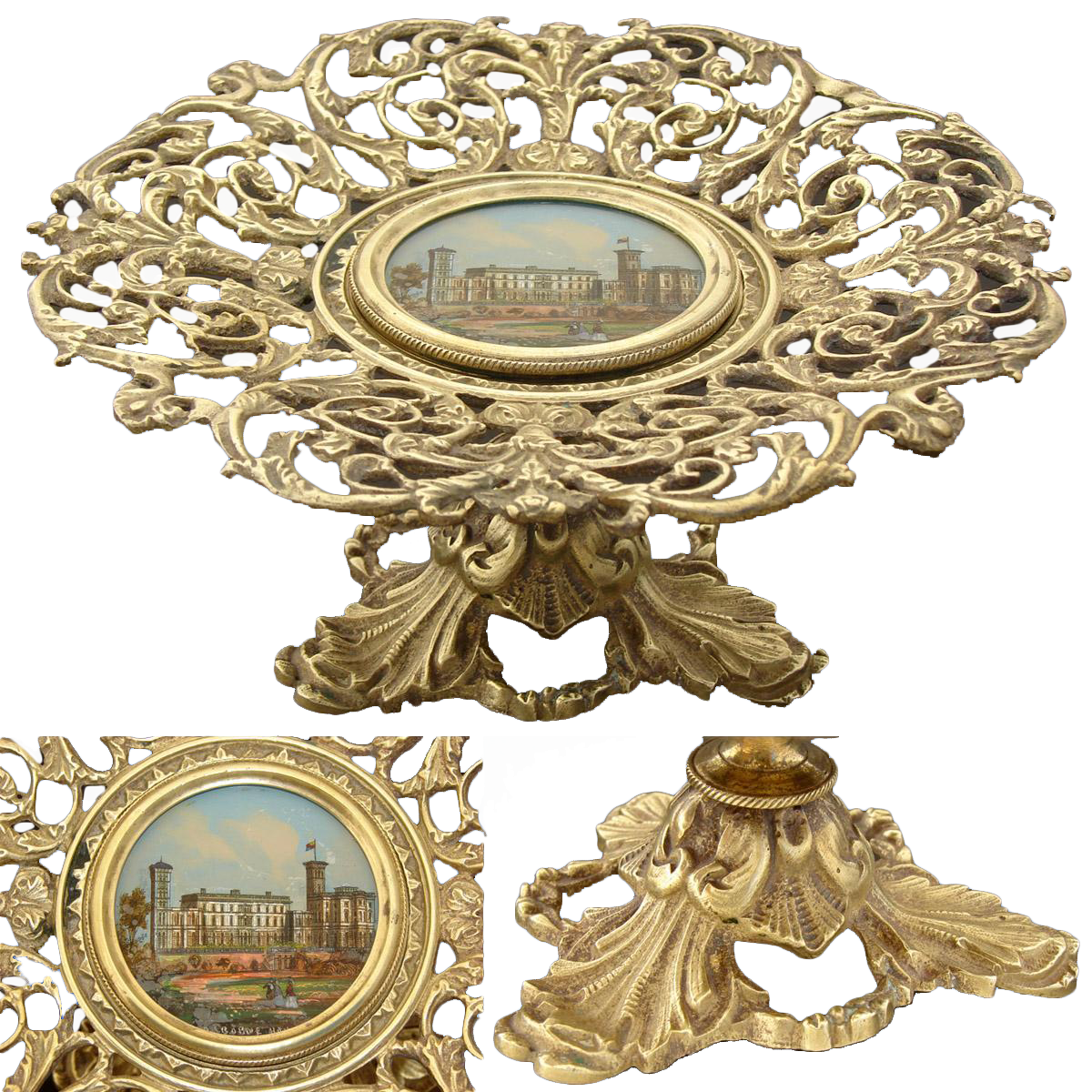 Antique Eglomise Grand Tour Souvenir Tray, St. Paul's Cathedral, London