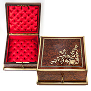 Antique French Jewelry Box, Casket, c.1850-80, Excellent Condition, Lock & Key