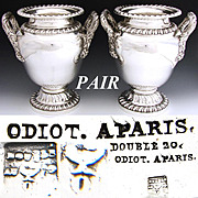 Spectacular Find: Set of Antique French ODIOT SP Wine Coolers - a PAIR