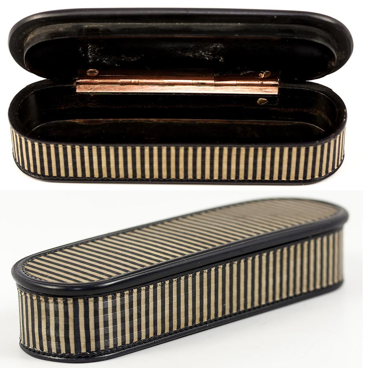 Superb c.1780s French Snuff or Patch Box, Vernis Martin & 18k Gold, Pristine