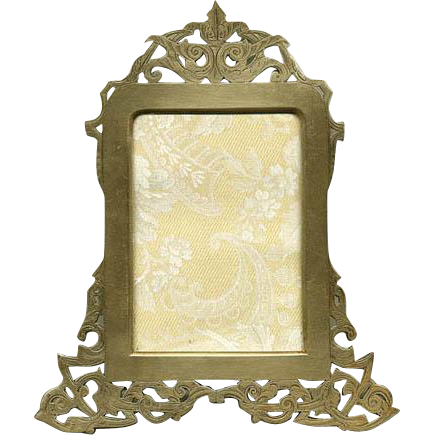 Superb LG 19c Austrian/French Reticulated Gilt Bronze Frame