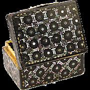 Antique 1700s Boite a' Mouche, Tortoise Shell & 12K Gold Box