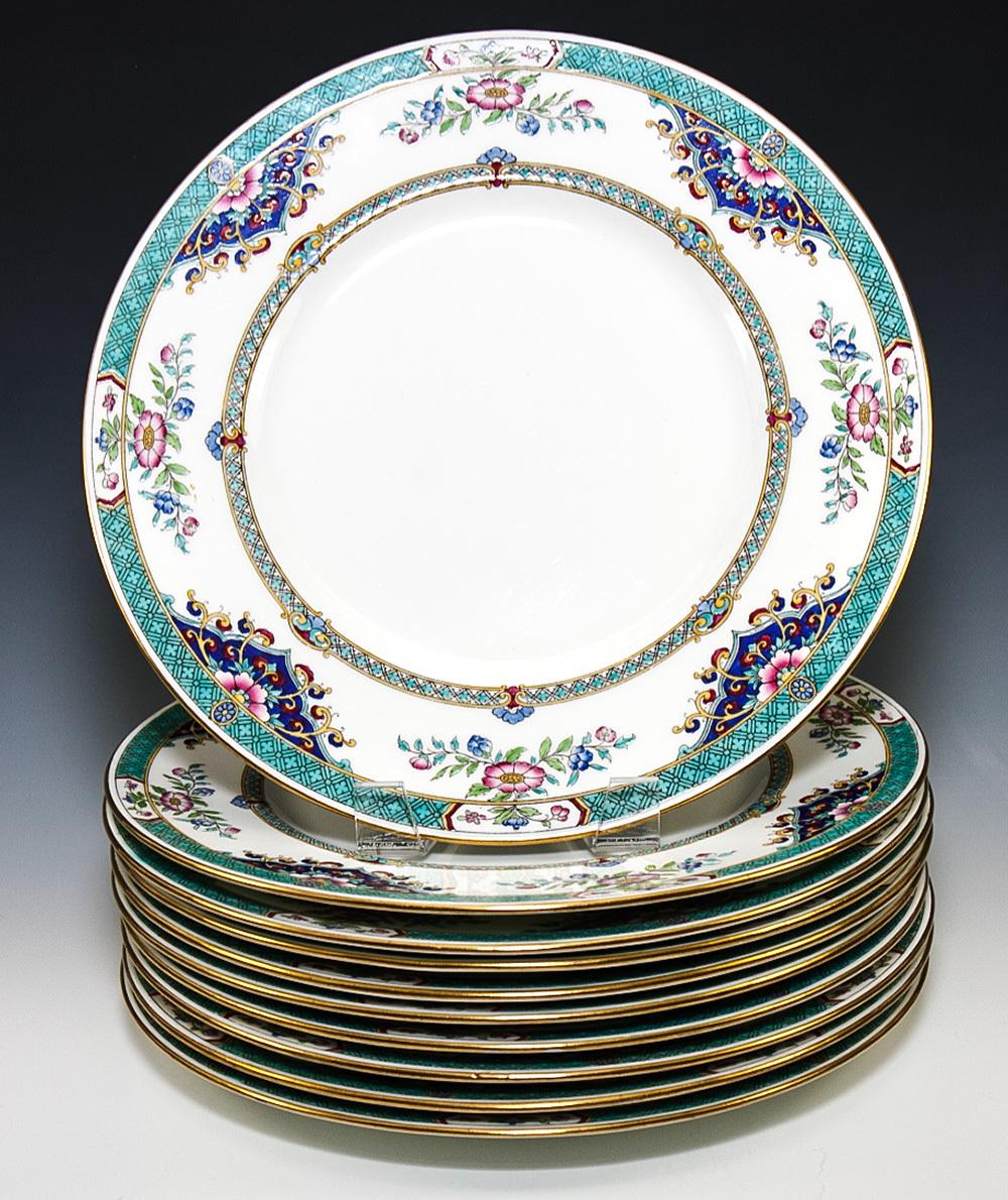 beautiful nearly antique set of minton imari dinner